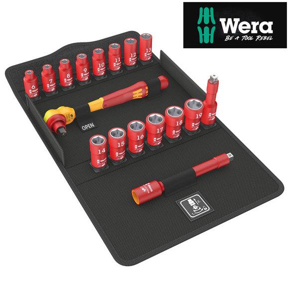 "Wera 8100SB VDE1 ZYKLOP 3/8"" Drive Ratchet Socket Set"